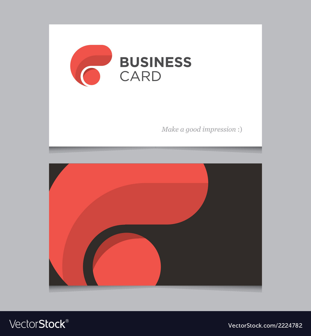 Business card 01 vector | Price: 1 Credit (USD $1)