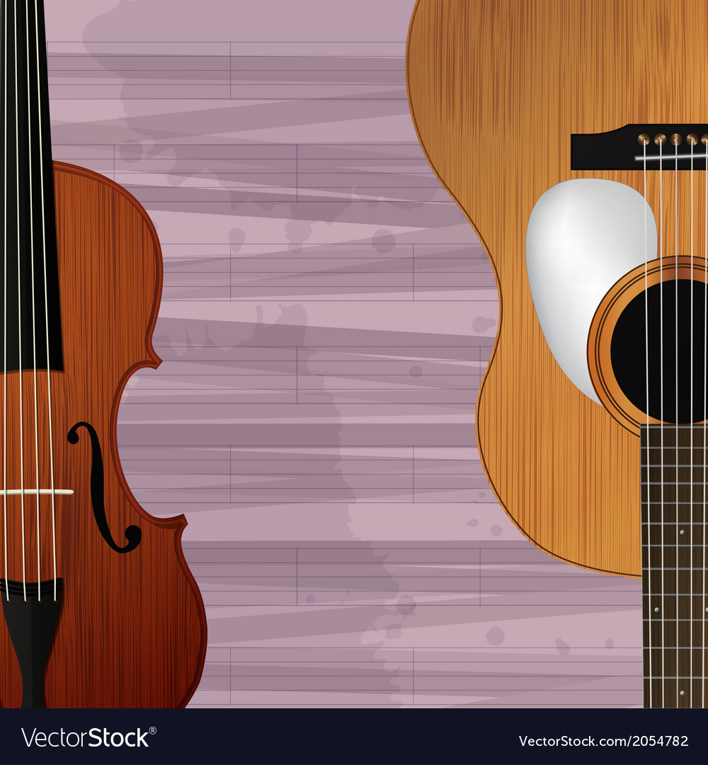 Guitar and violin icon vector | Price: 1 Credit (USD $1)
