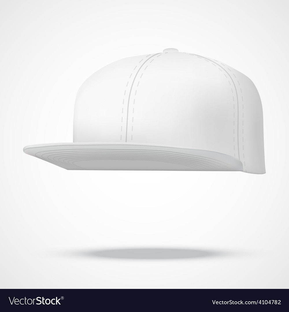 Layout of male white rap cap vector | Price: 1 Credit (USD $1)