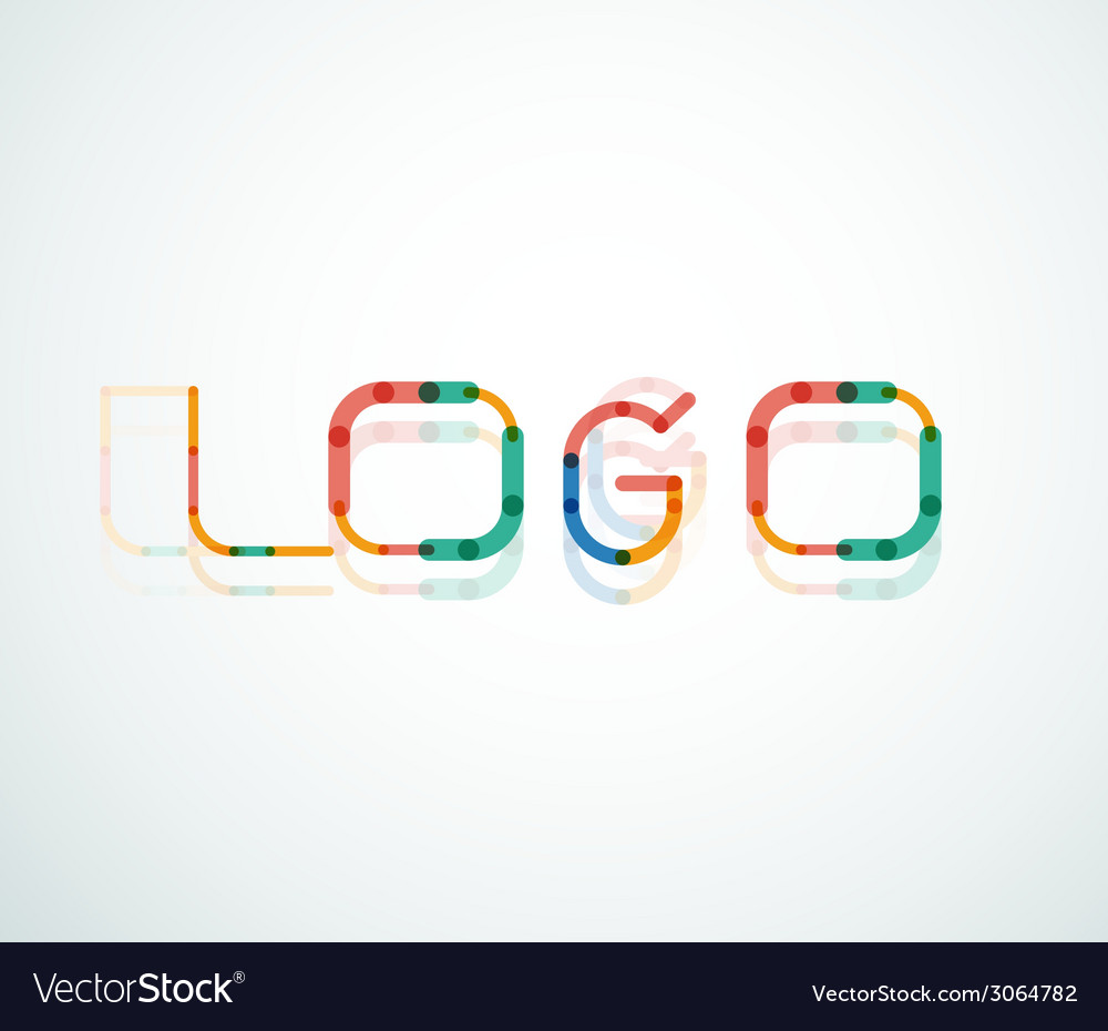 Logo word font design vector | Price: 1 Credit (USD $1)