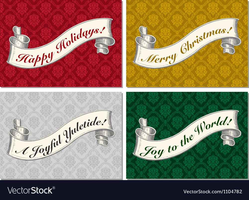 Merry christmas scroll banner vector | Price: 1 Credit (USD $1)