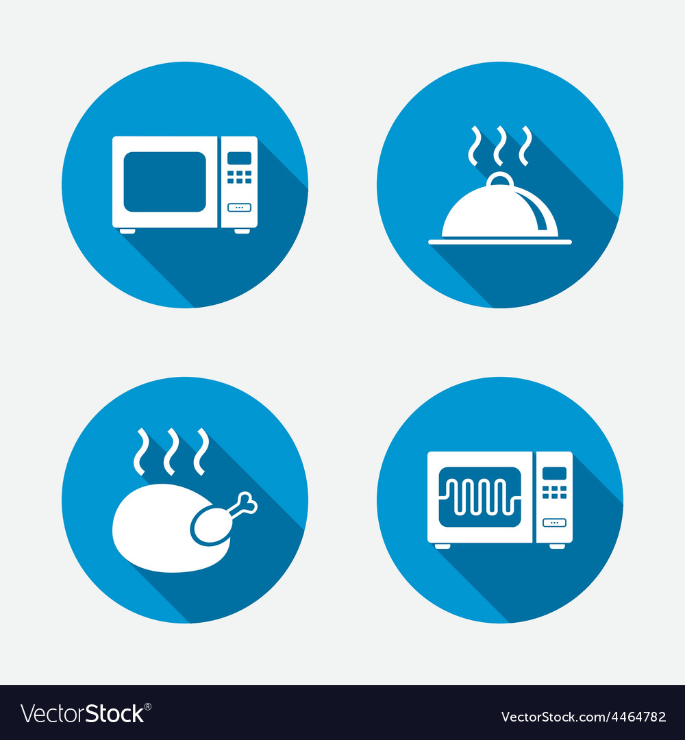 Microwave oven icon cooking food serving vector | Price: 1 Credit (USD $1)