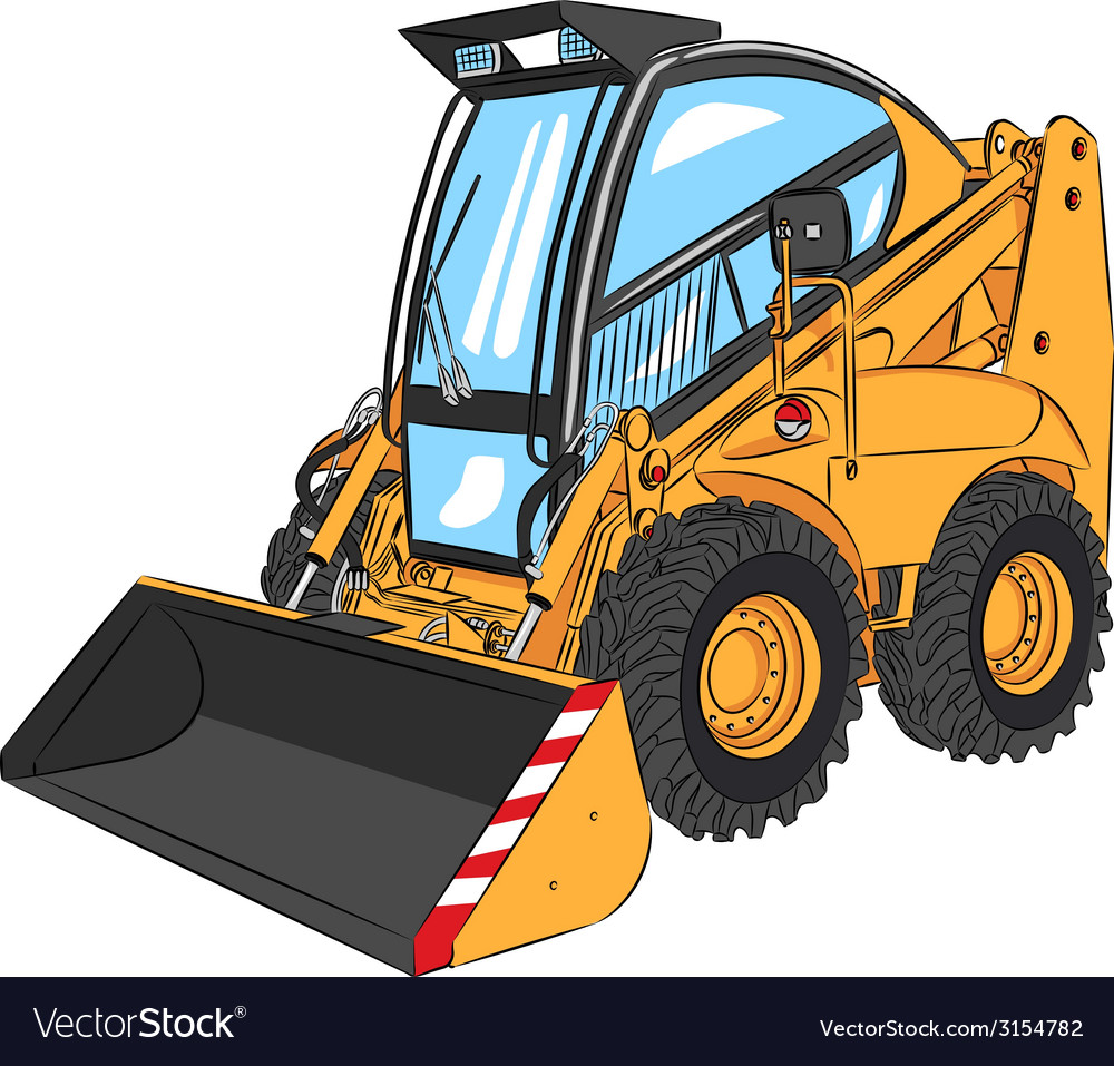 Mini excavator a vector | Price: 1 Credit (USD $1)