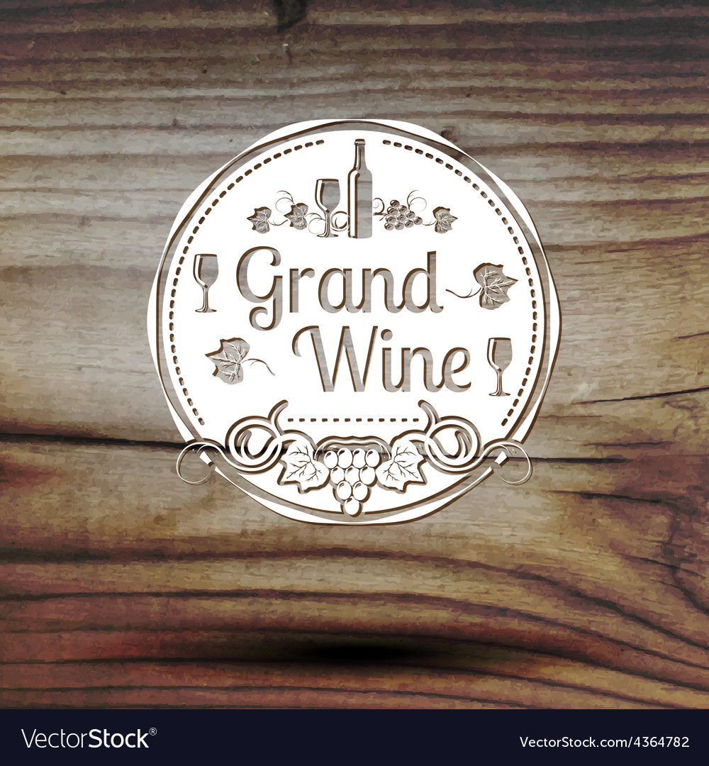 Old styled wine label for your business shop vector | Price: 1 Credit (USD $1)