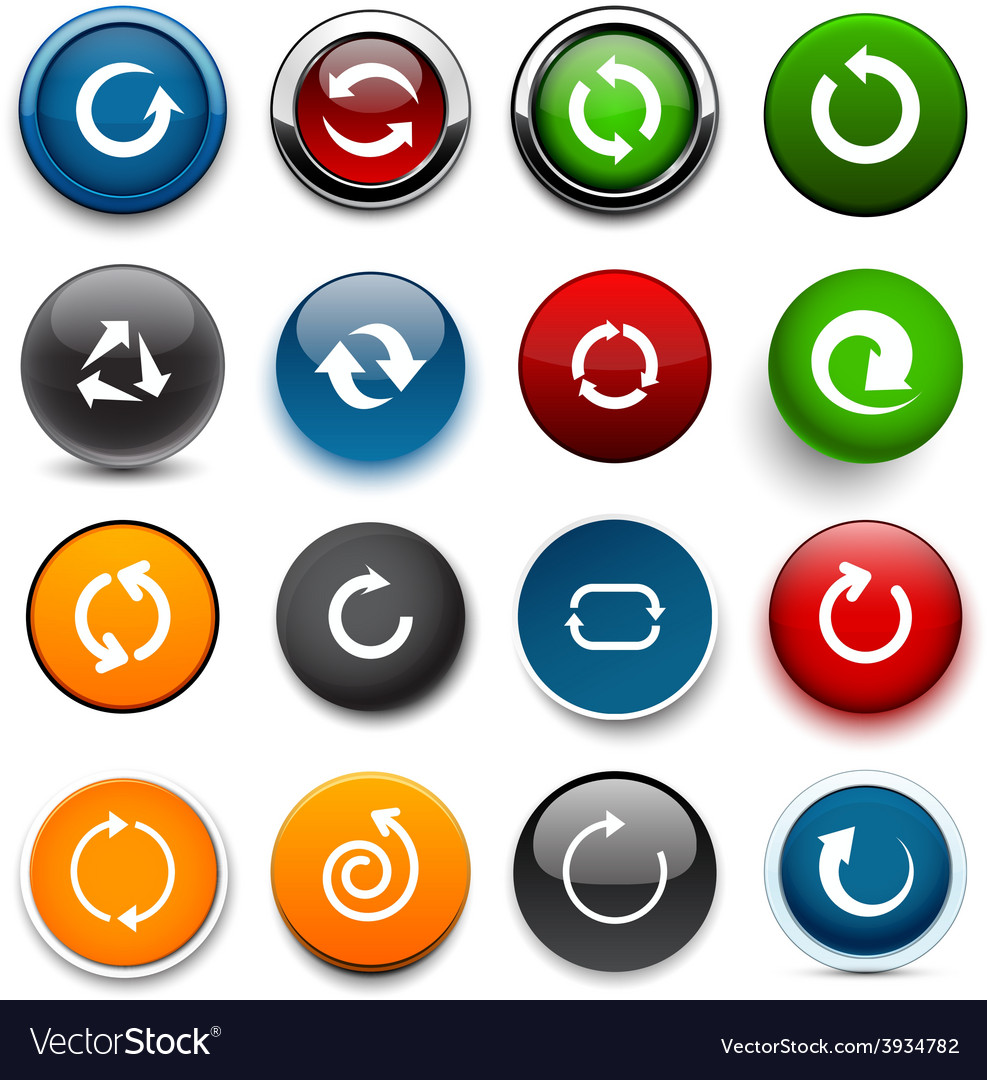 Round color arrow icons vector | Price: 1 Credit (USD $1)