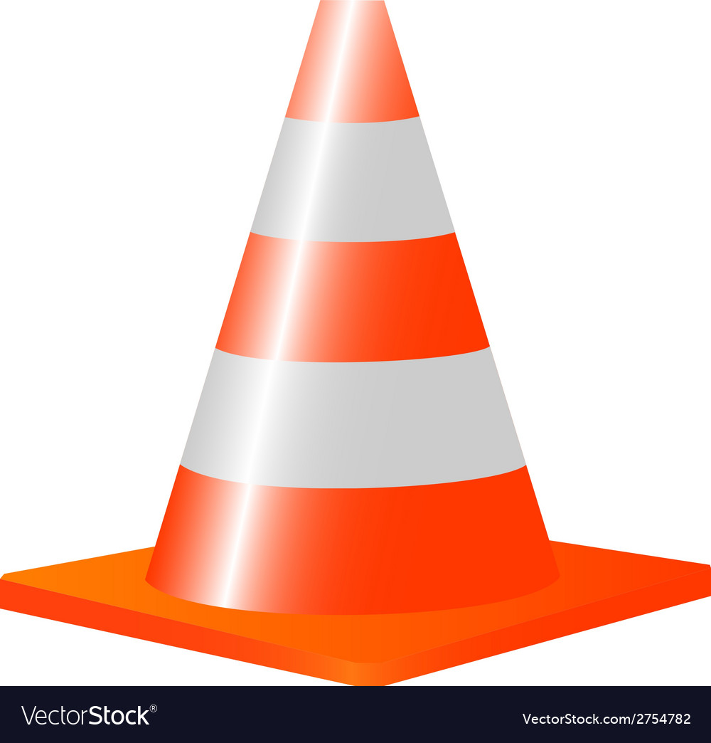 Trafic cone vector | Price: 1 Credit (USD $1)