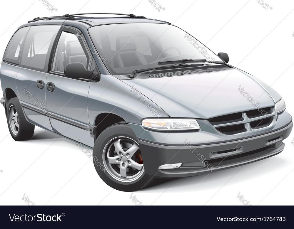 American family minivan vector | Price: 3 Credit (USD $3)