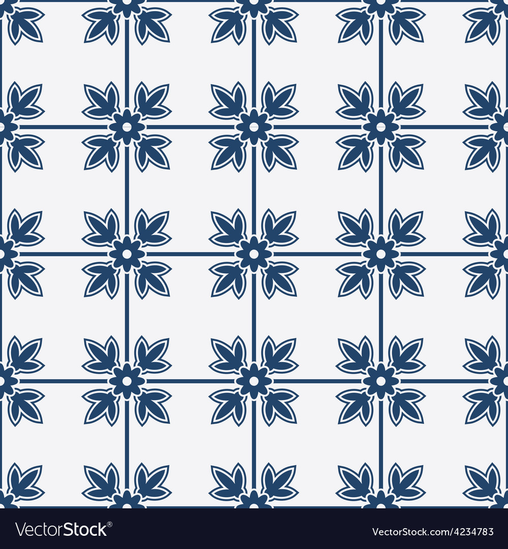 Blue and white delft pattern vector   Price: 1 Credit (USD $1)
