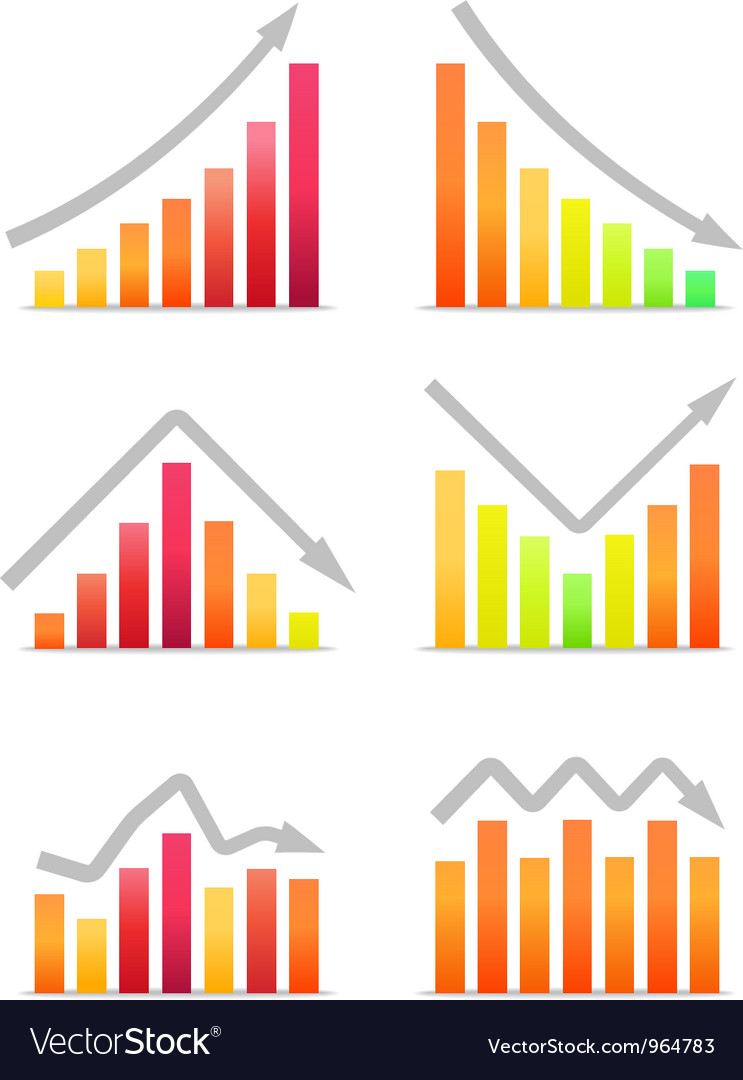 Business revenue charts vector | Price: 1 Credit (USD $1)