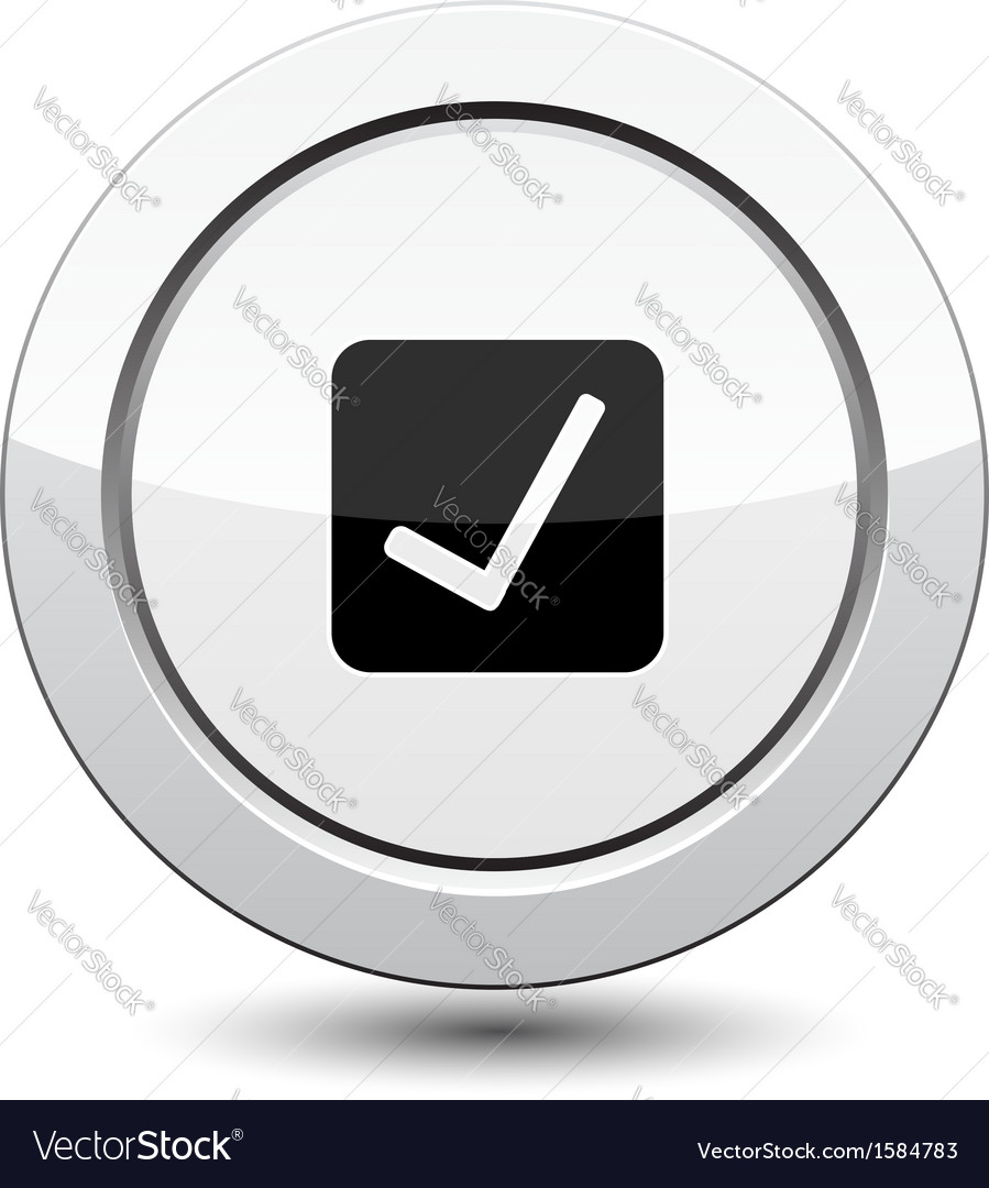 Button with ok sign vector | Price: 1 Credit (USD $1)