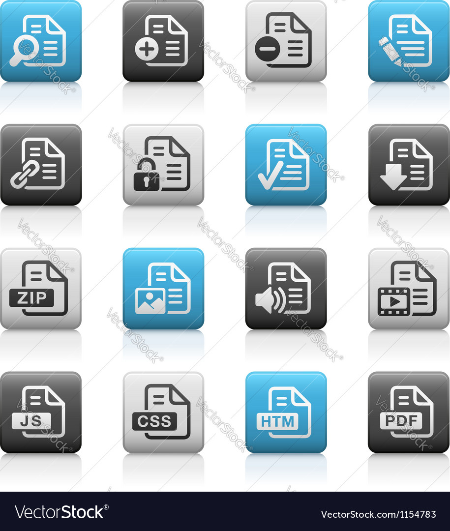 Documents icons 1 matte series vector | Price: 1 Credit (USD $1)