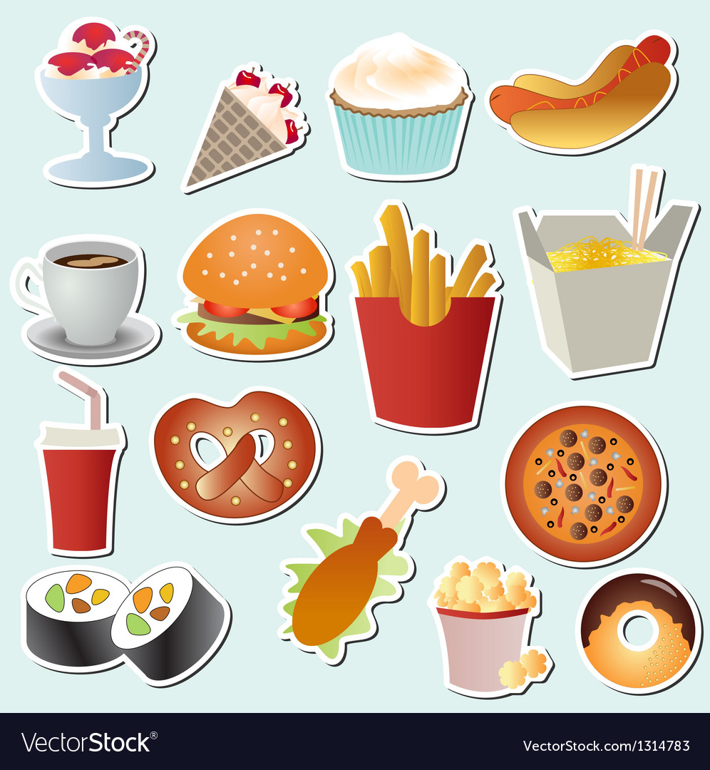 Food set vector | Price: 3 Credit (USD $3)