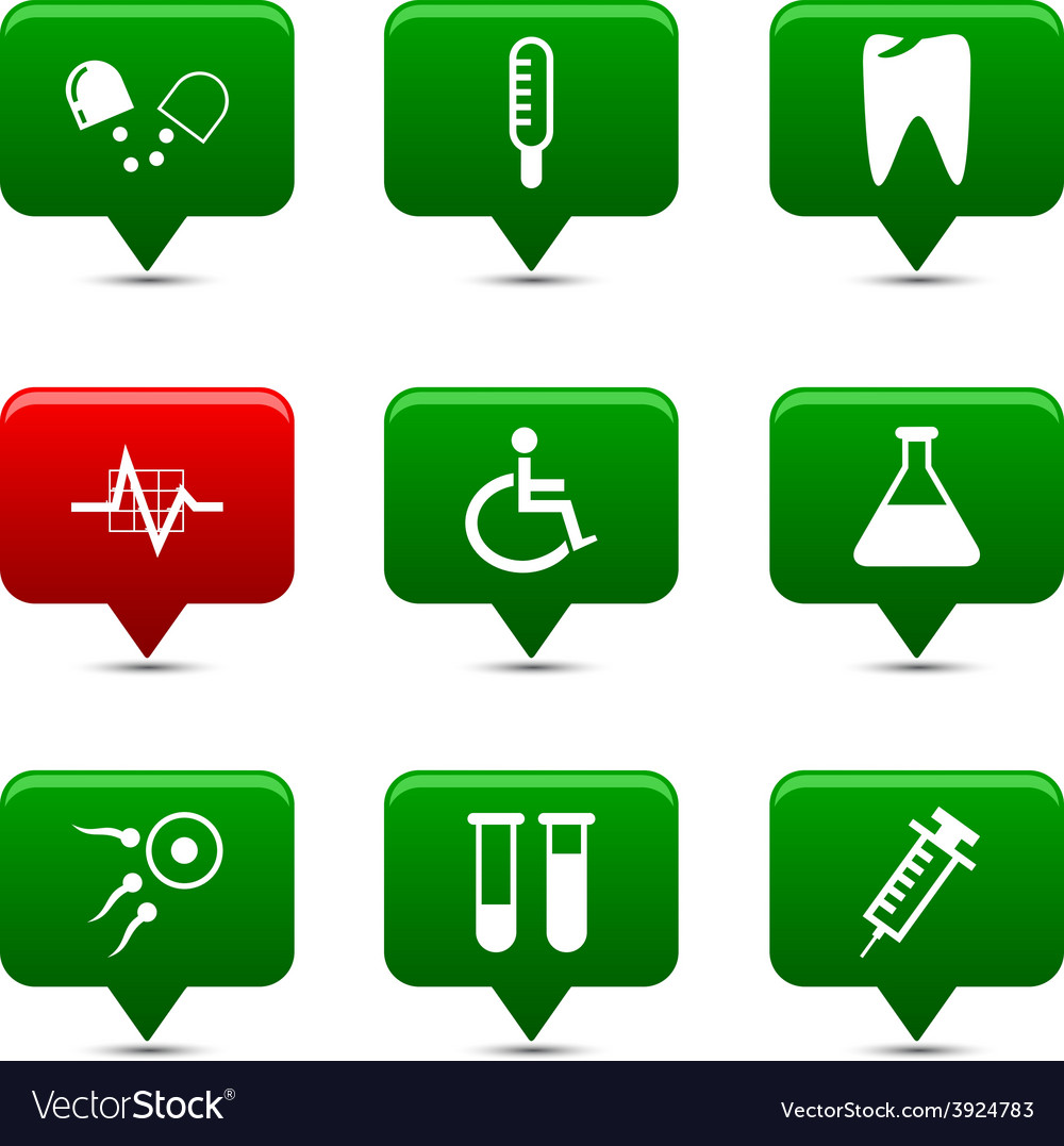 Medical buttons vector | Price: 1 Credit (USD $1)