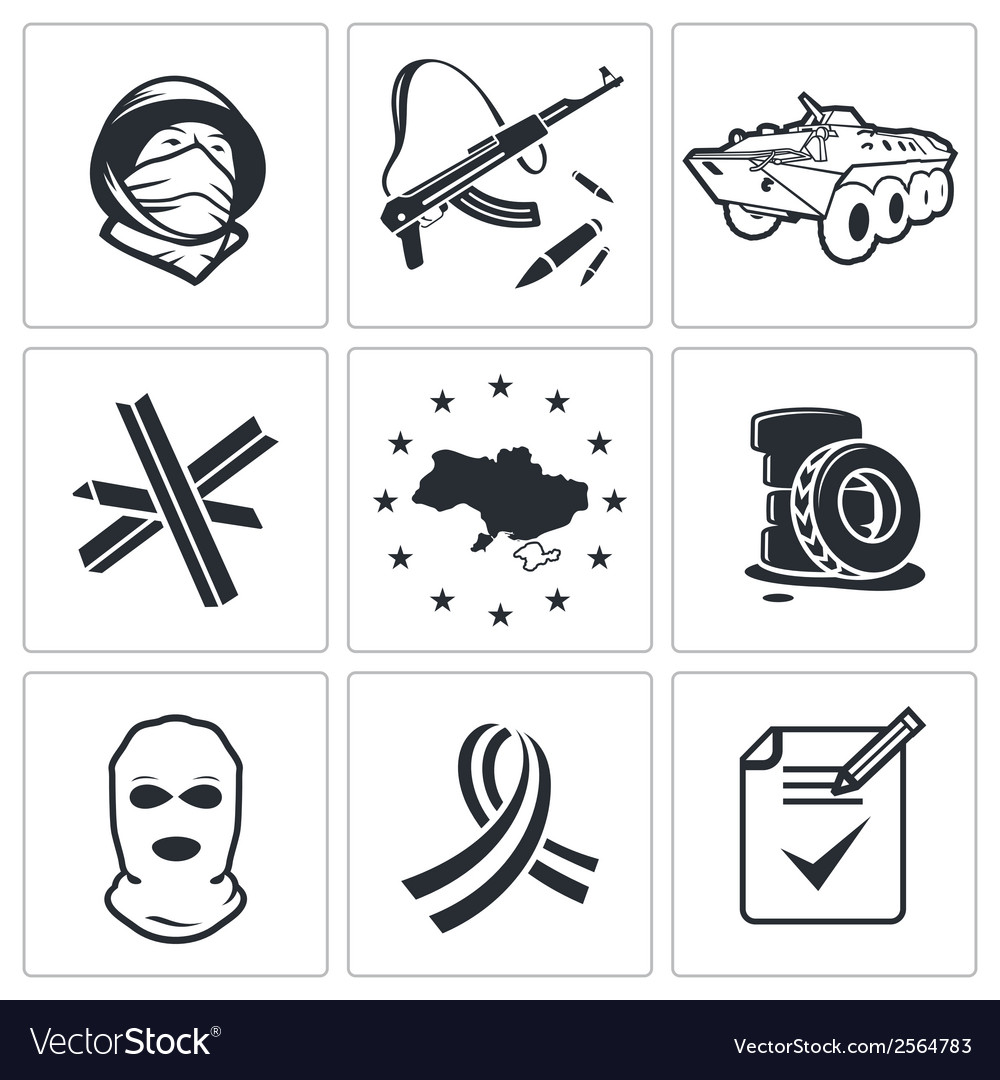 Opposition icon collection vector | Price: 1 Credit (USD $1)