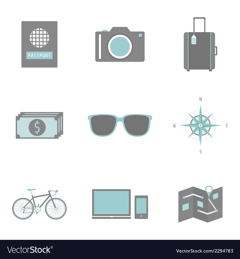 Travelicon vector | Price: 1 Credit (USD $1)