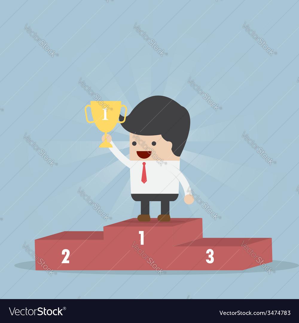 The winner businessman vector | Price: 1 Credit (USD $1)