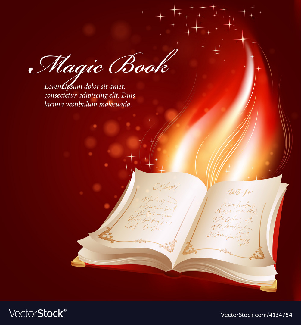 A magical book vector | Price: 1 Credit (USD $1)