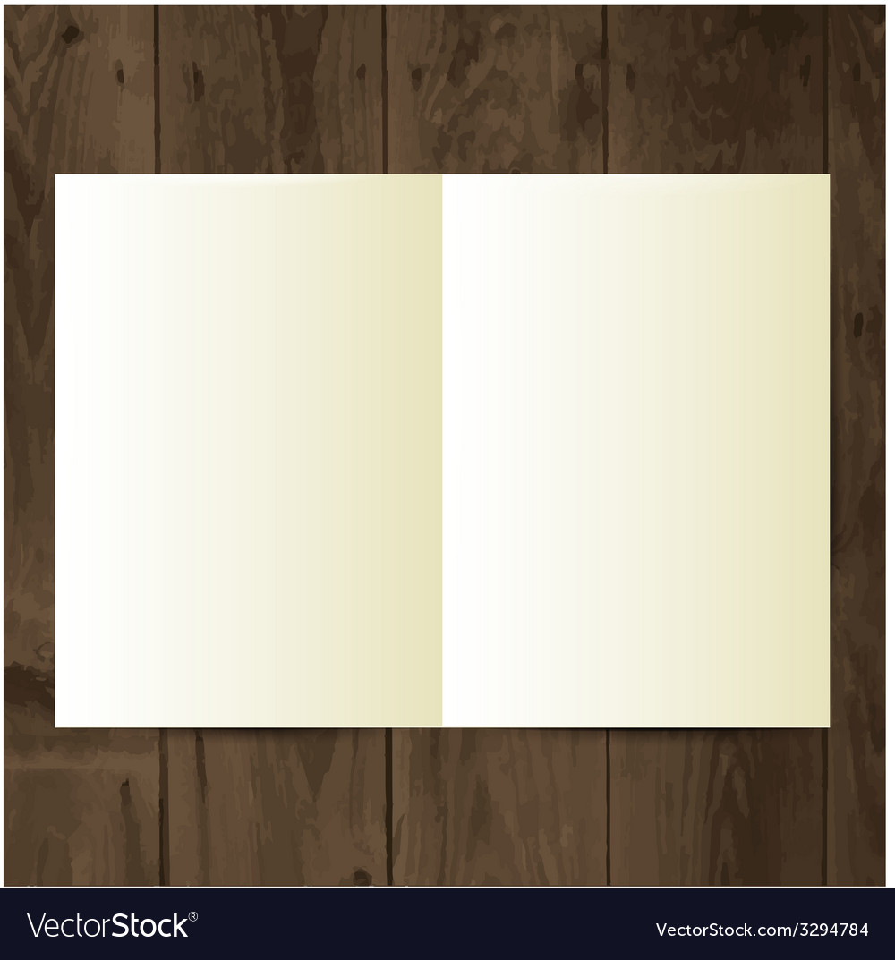 Blank magazine on the wooden table vector | Price: 1 Credit (USD $1)