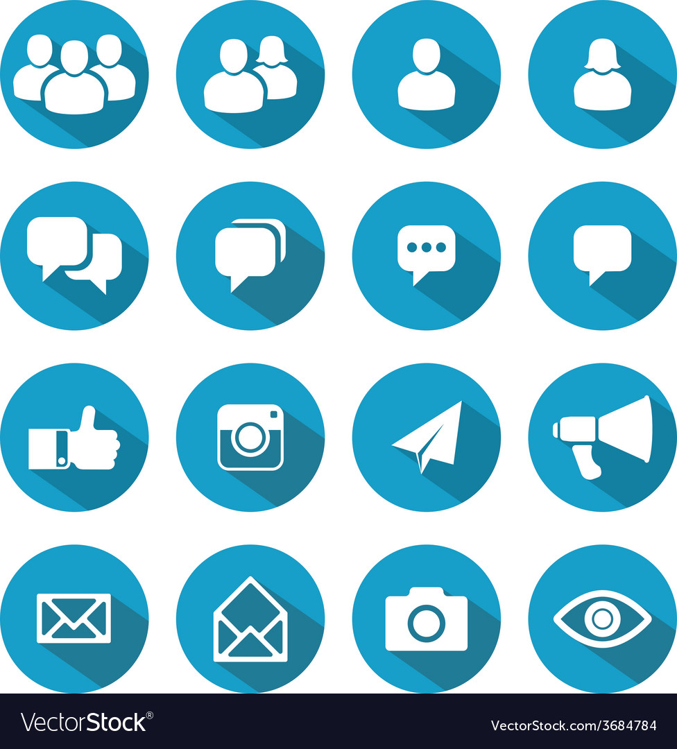 Blog and social media icons vector | Price: 1 Credit (USD $1)