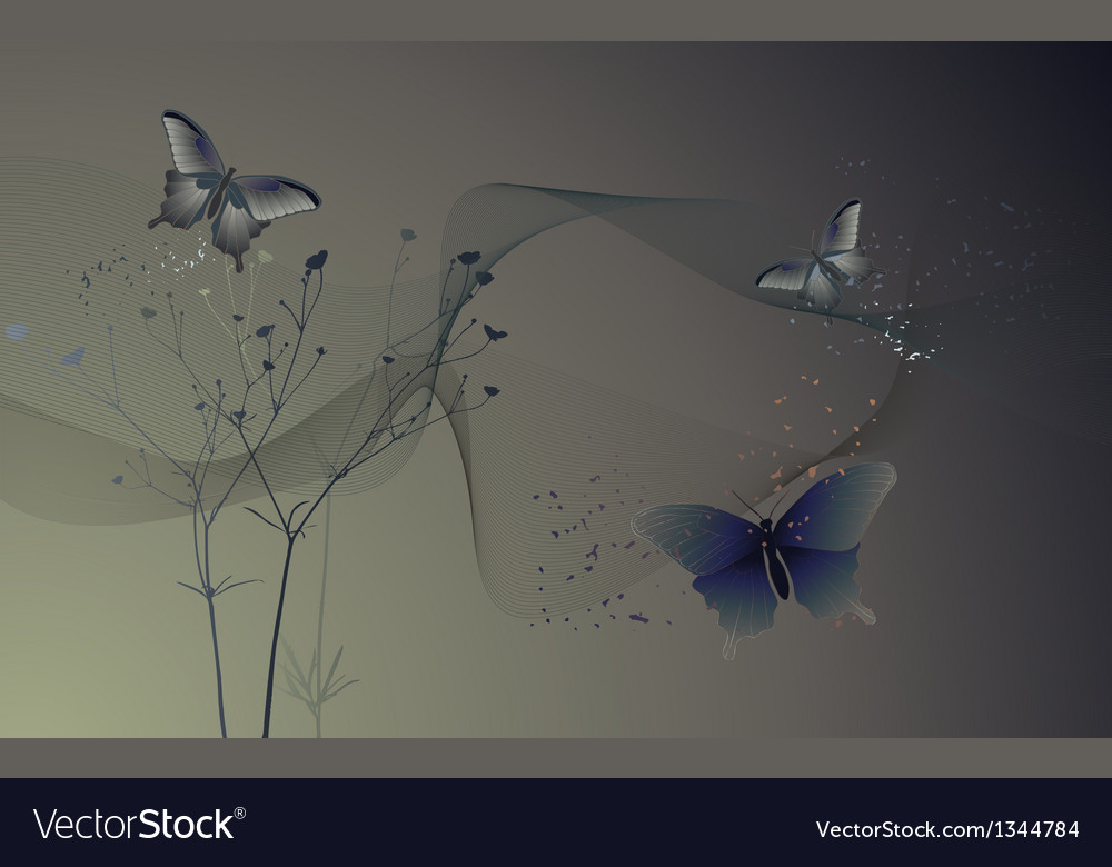 Butterflies - wallpaper vector | Price: 1 Credit (USD $1)