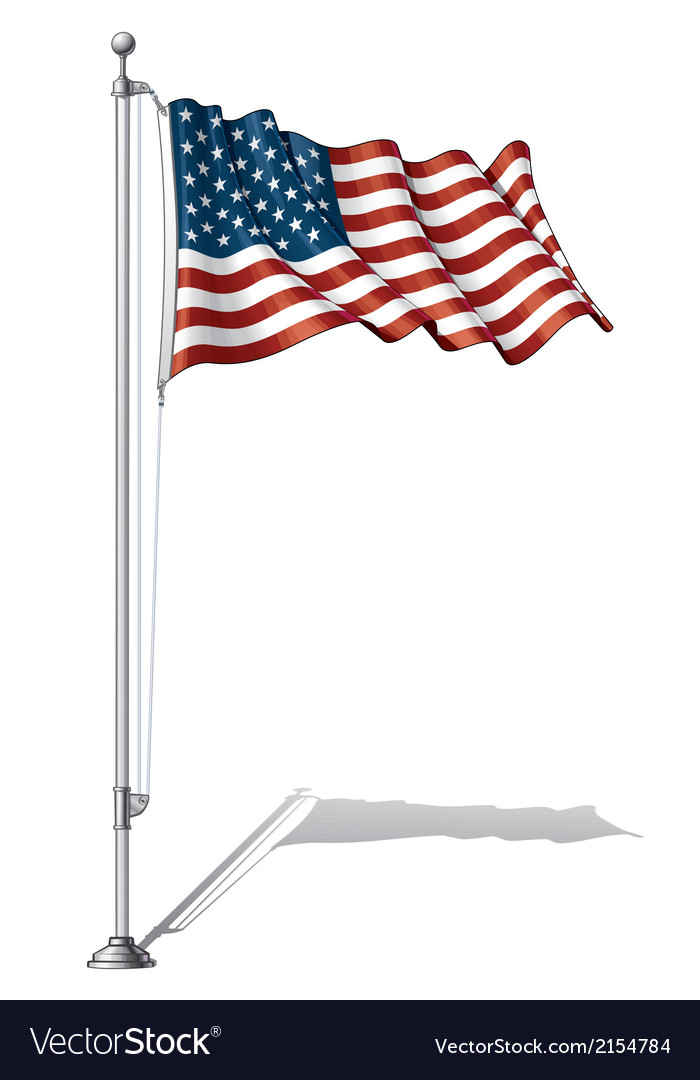 Flag pole usa vector | Price: 1 Credit (USD $1)
