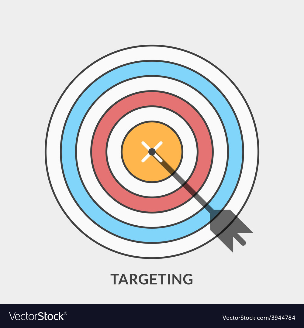 Flat design concept for targeting for web b vector | Price: 1 Credit (USD $1)