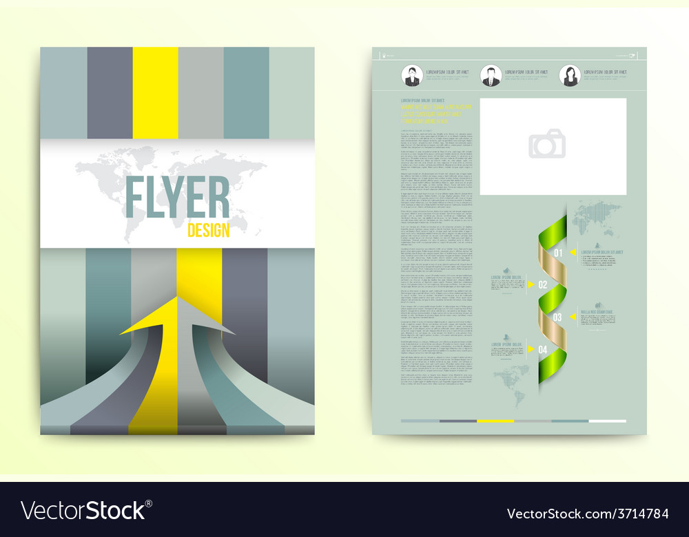Flyer brochure cover design template vector | Price: 1 Credit (USD $1)