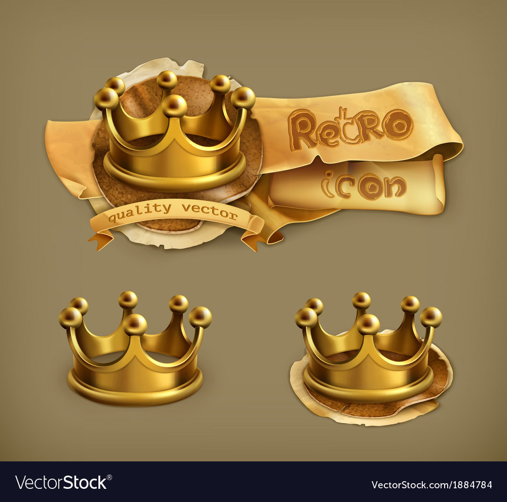 Gold crown vector | Price: 1 Credit (USD $1)