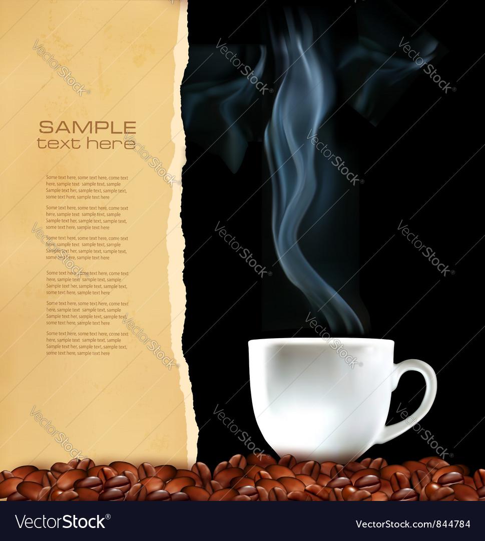 Menu cup of coffee vector   Price: 1 Credit (USD $1)