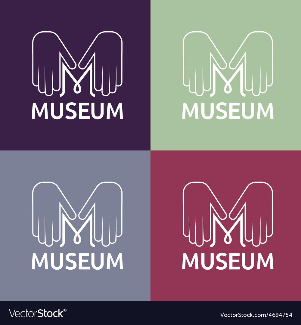 Museum monogram with hands vector | Price: 1 Credit (USD $1)