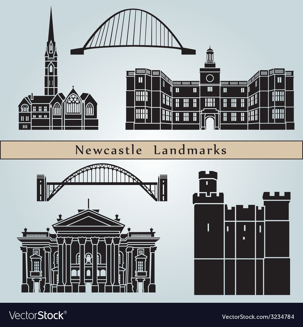 Newcastle landmarks and monuments vector | Price: 1 Credit (USD $1)