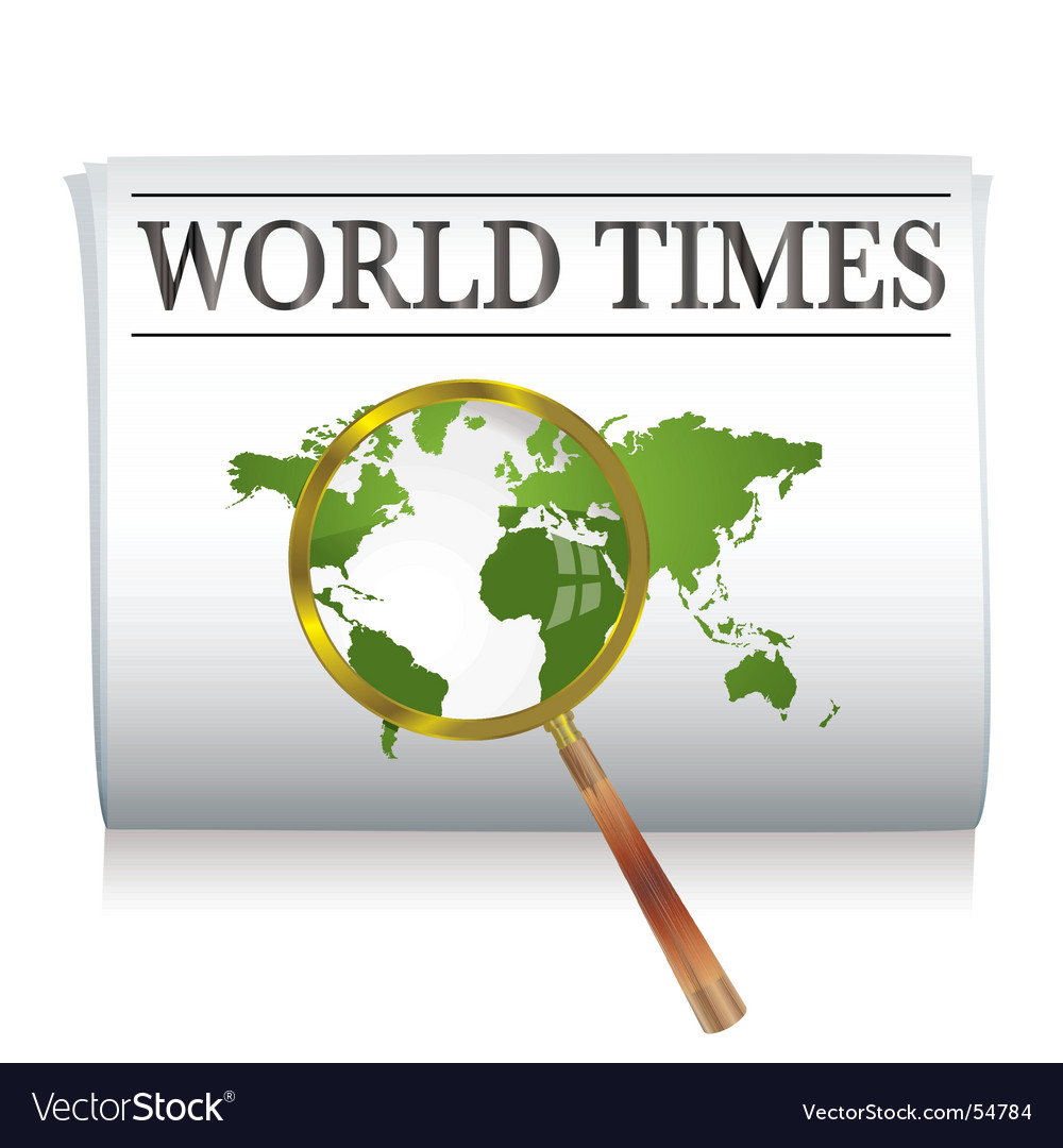 Newspaper world vector | Price: 1 Credit (USD $1)