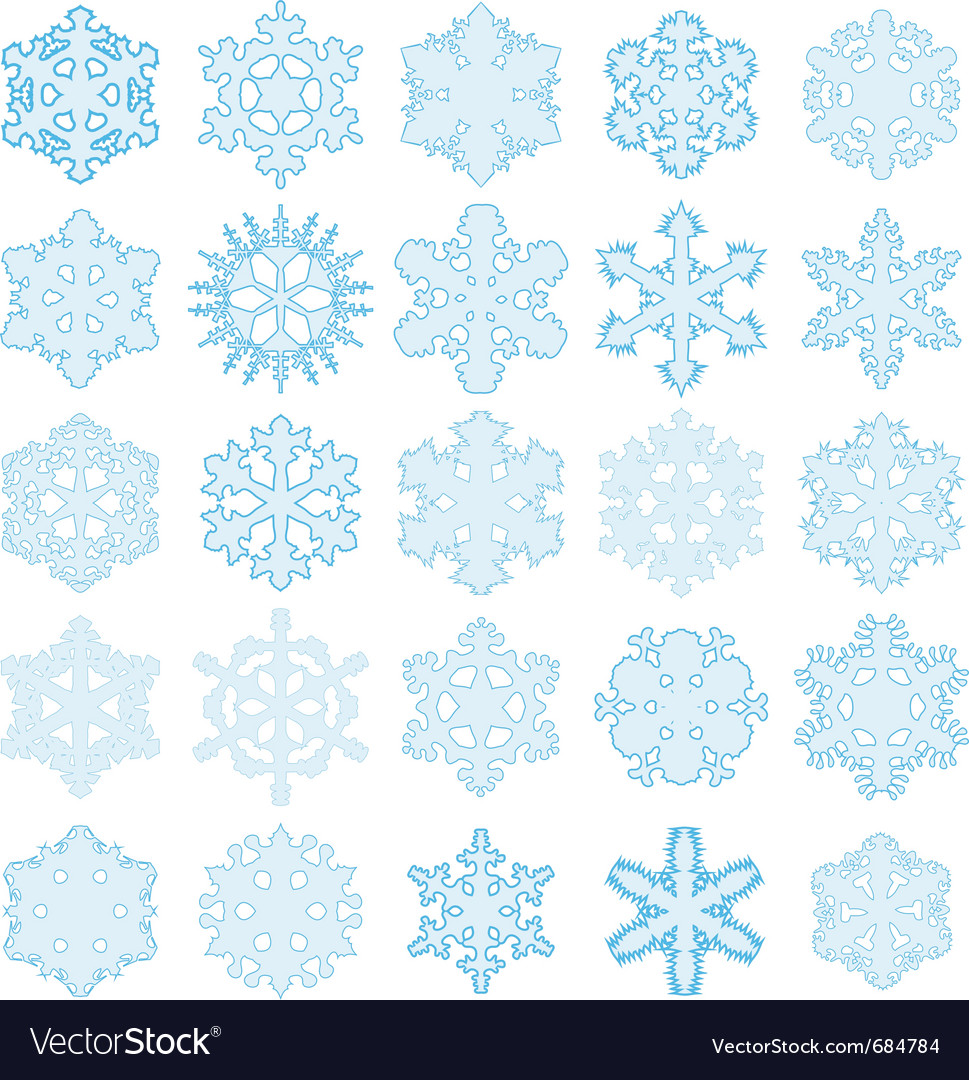 Original snowflakes vector | Price: 1 Credit (USD $1)