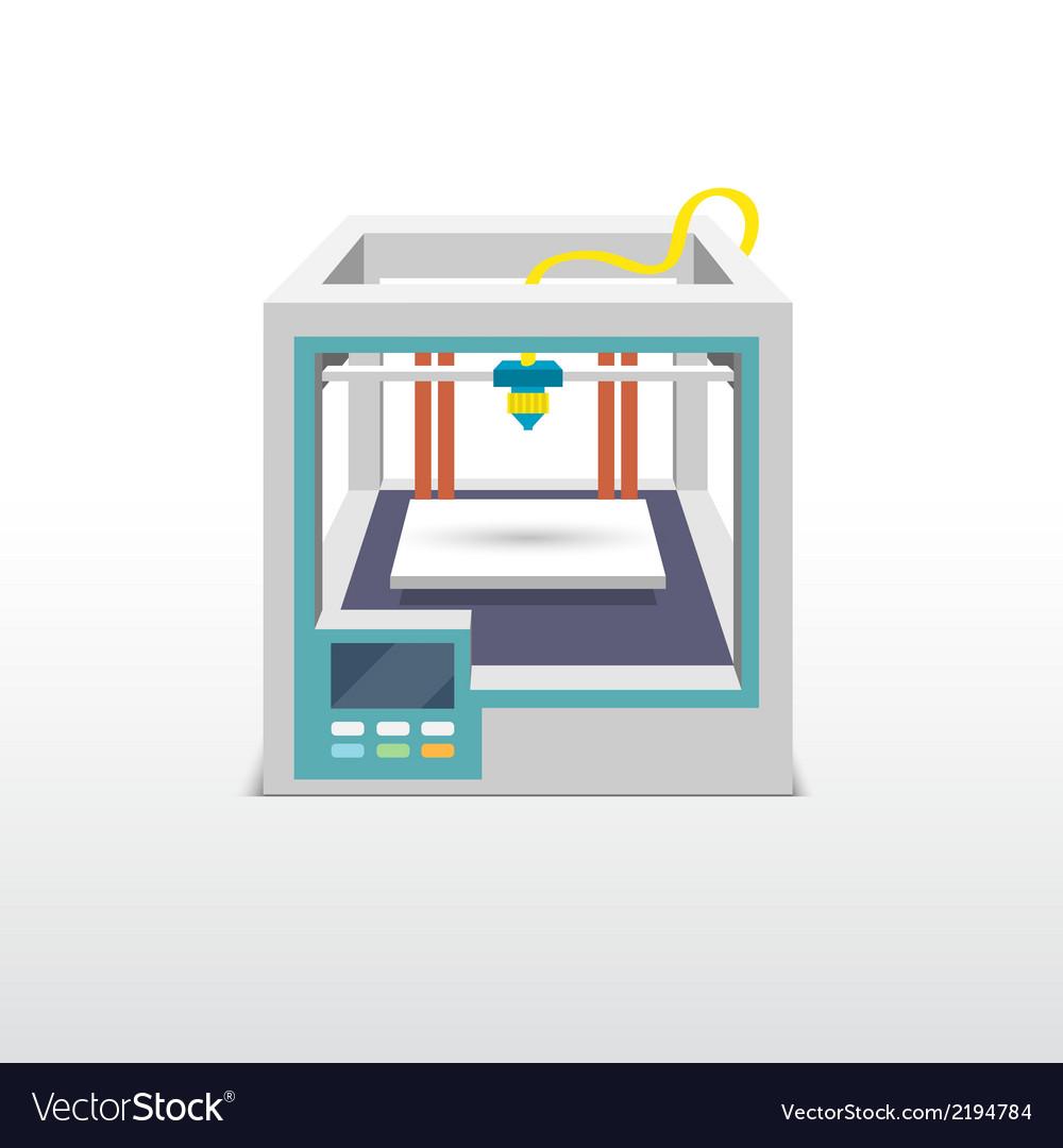 Printing 3d emblem vector | Price: 1 Credit (USD $1)