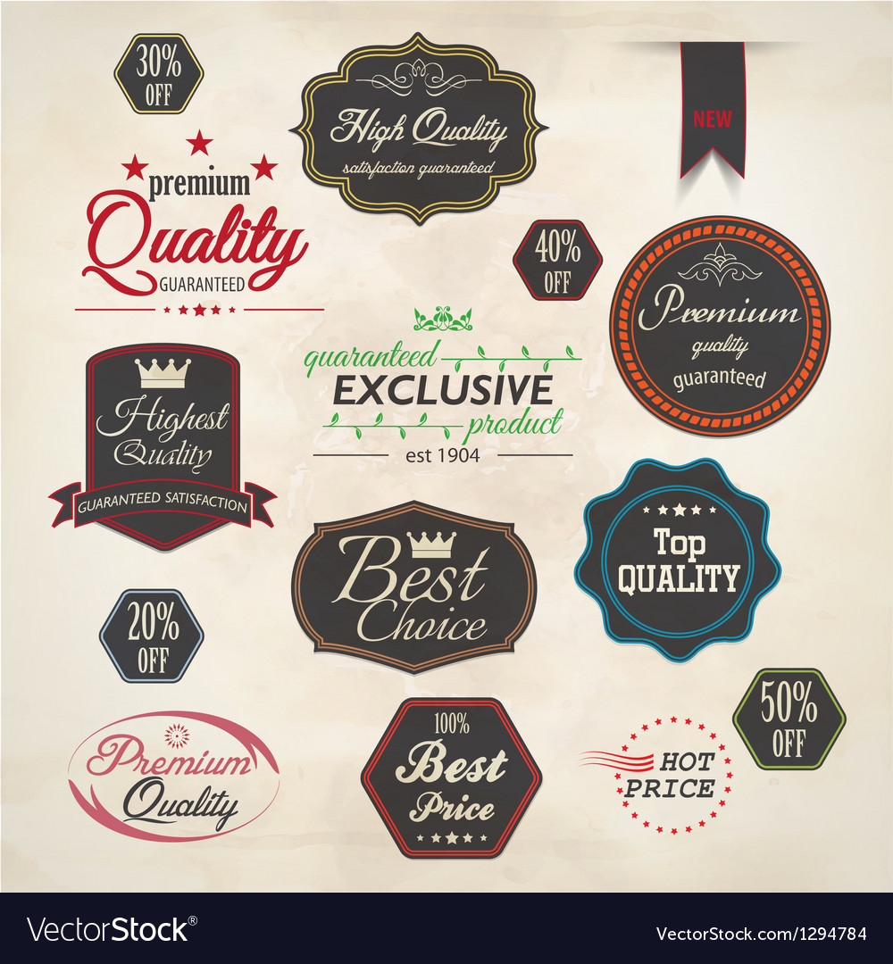 Set of badge and labels 5 vector   Price: 1 Credit (USD $1)