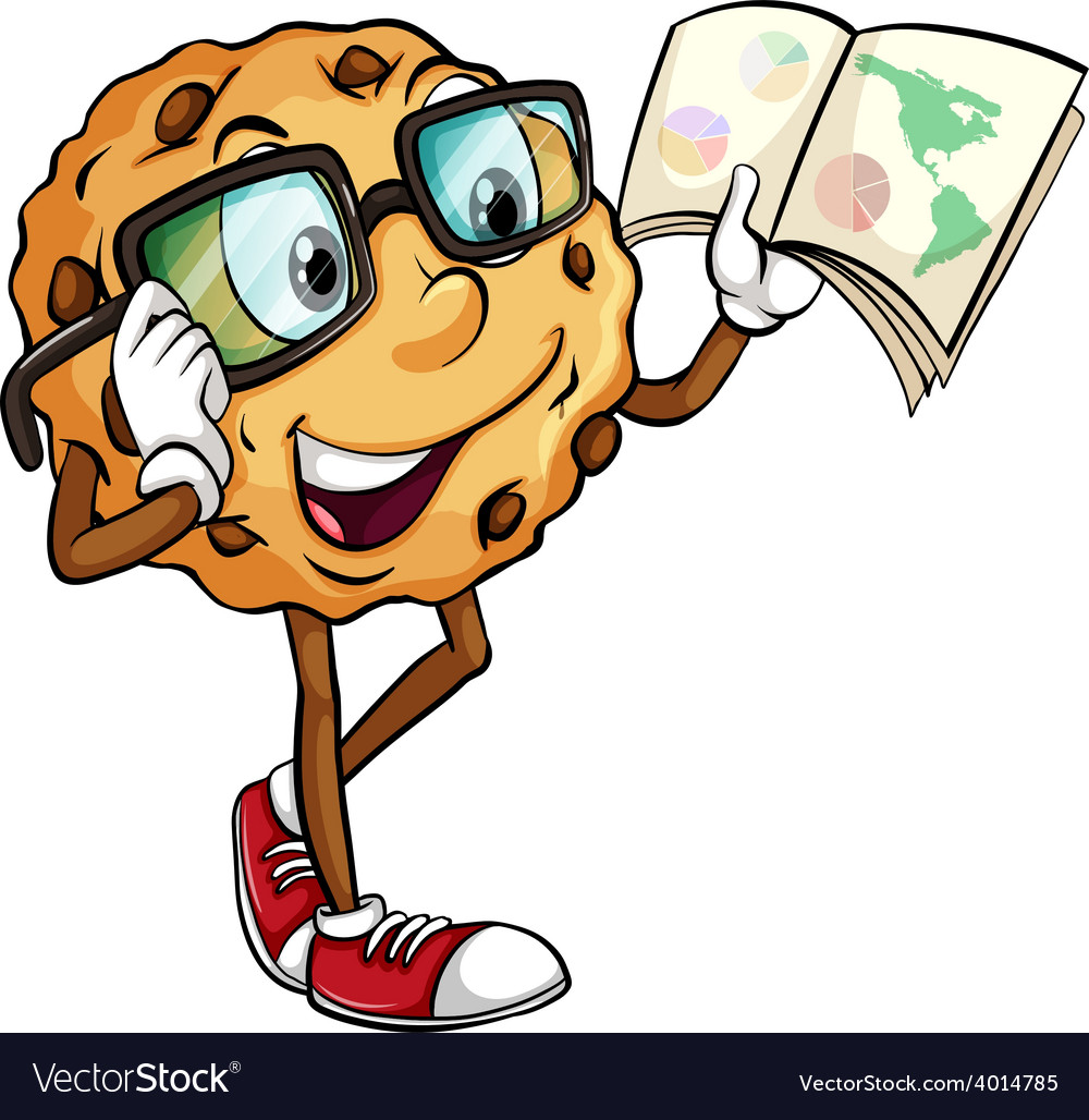 A crunchy cookie reading vector | Price: 3 Credit (USD $3)