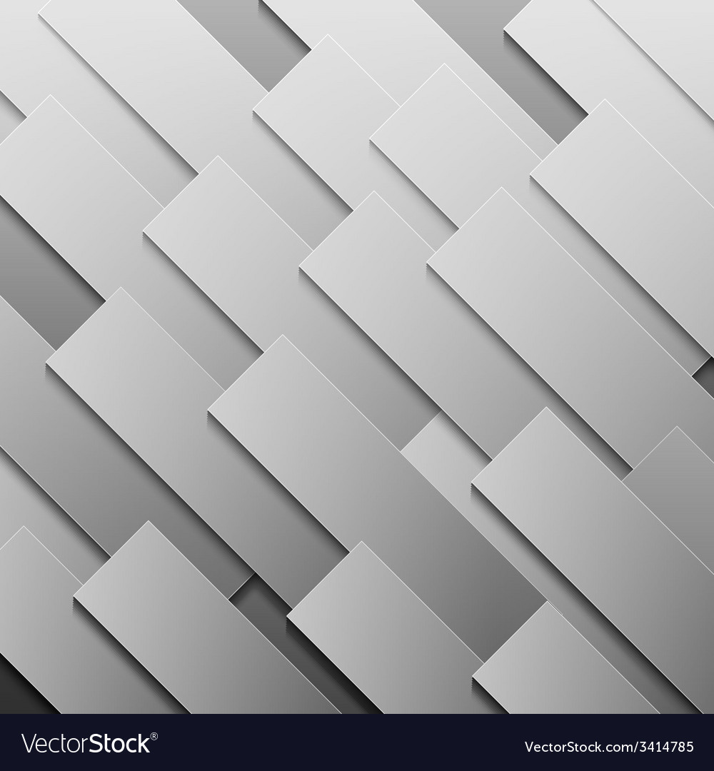 Abstract grey paper rectangle shapes background vector | Price: 1 Credit (USD $1)