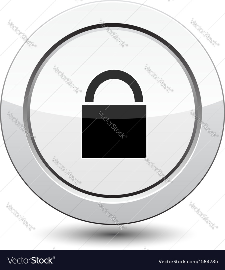 Button with padlock icon vector | Price: 1 Credit (USD $1)