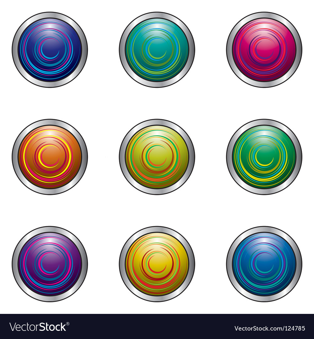 Buttons for design vector | Price: 1 Credit (USD $1)