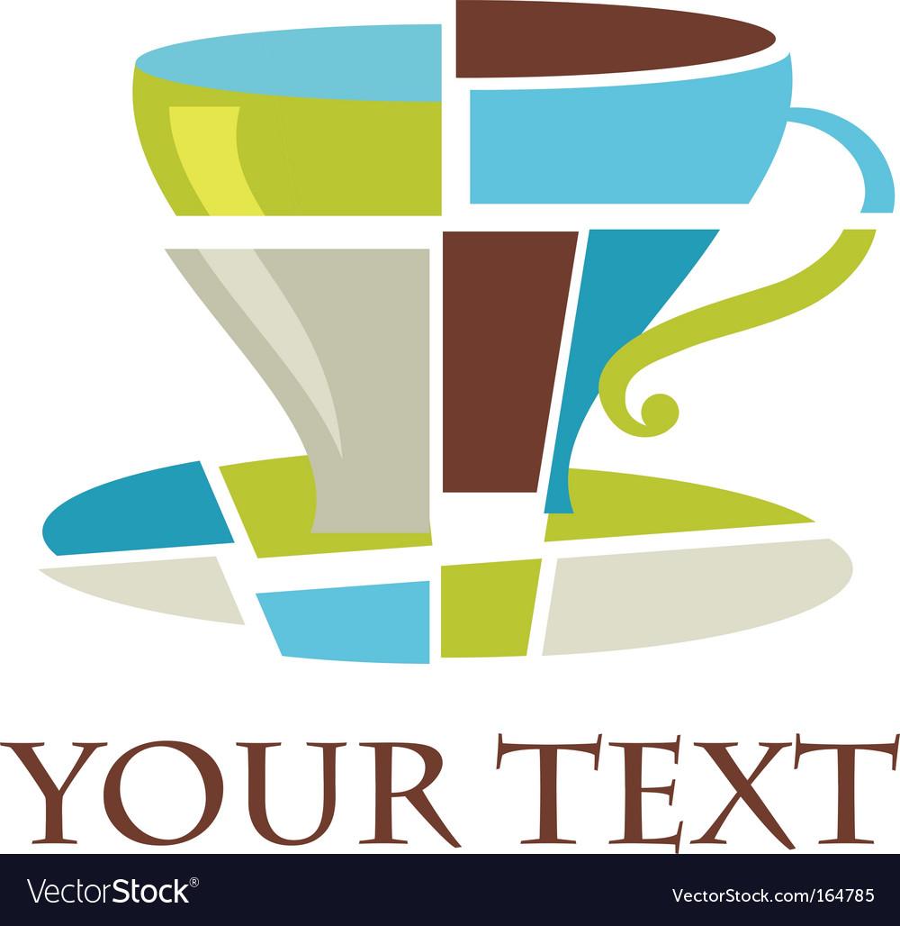 Coffee cup logo vector | Price: 1 Credit (USD $1)