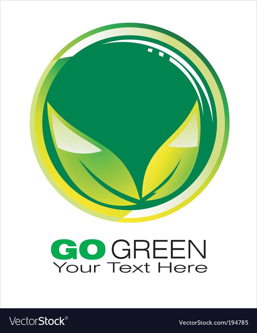 Green logo vector | Price: 3 Credit (USD $3)