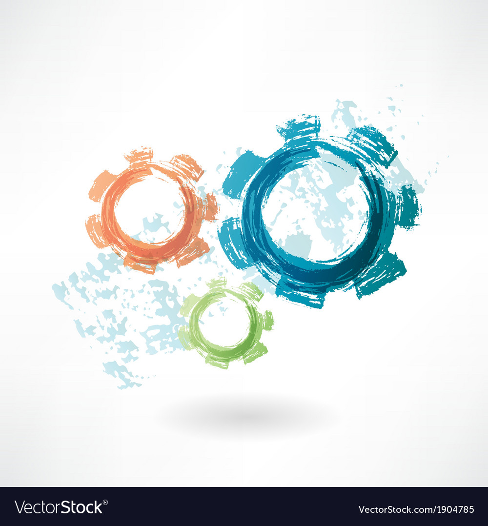 Mechanism grunge icon vector | Price: 1 Credit (USD $1)