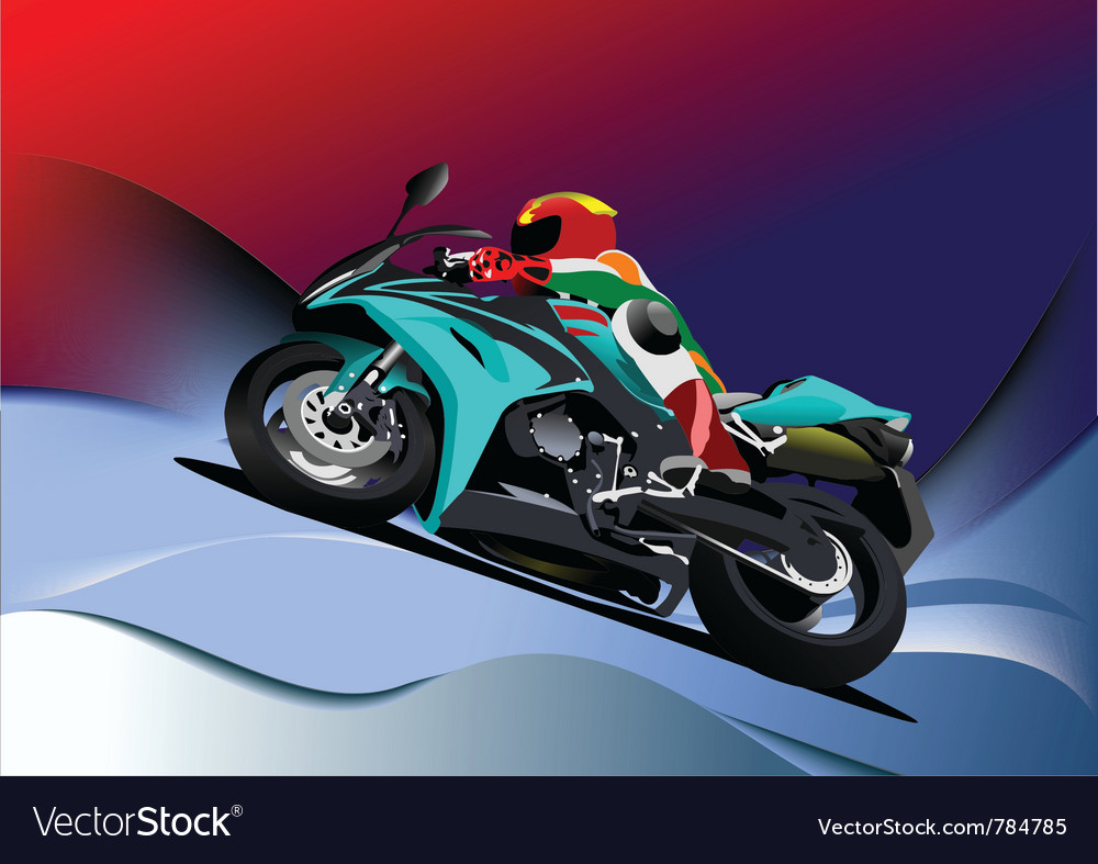 Motorbike racing vector | Price: 1 Credit (USD $1)