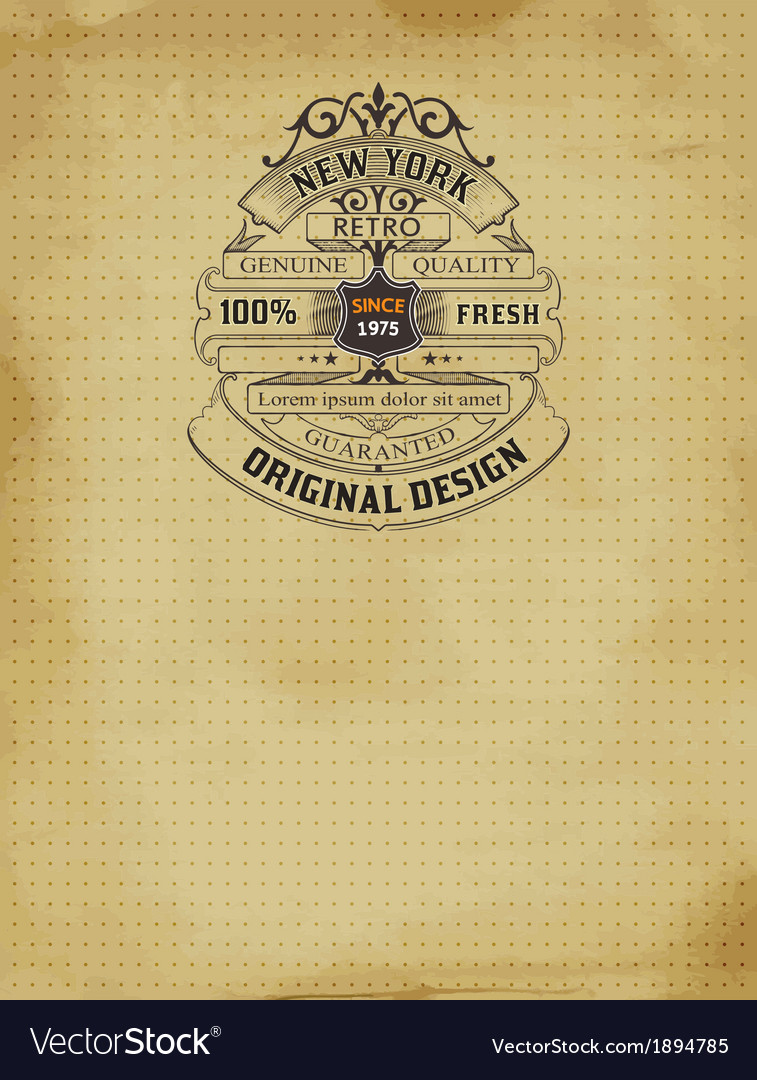 Old design vector | Price: 1 Credit (USD $1)