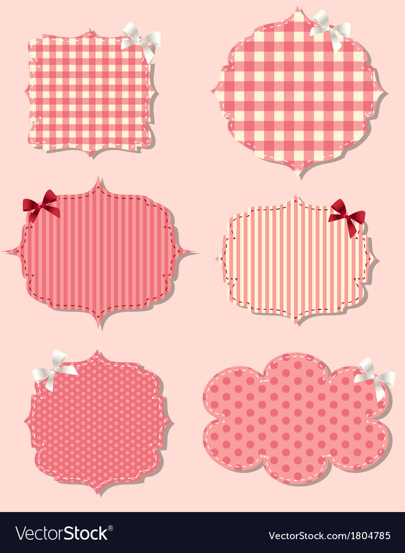 Set of different valentines dey labels design vector | Price: 1 Credit (USD $1)