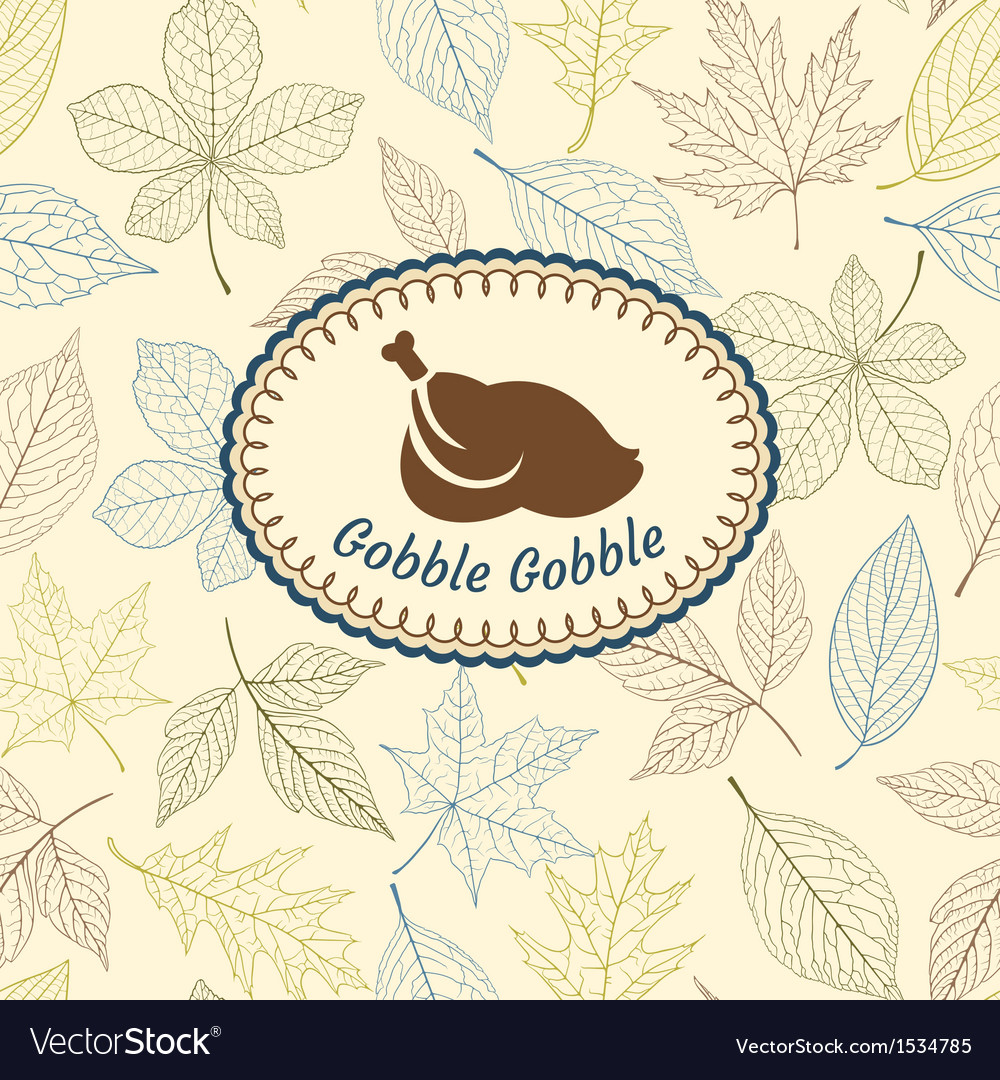 Thanksgiving greeting card vector | Price: 1 Credit (USD $1)