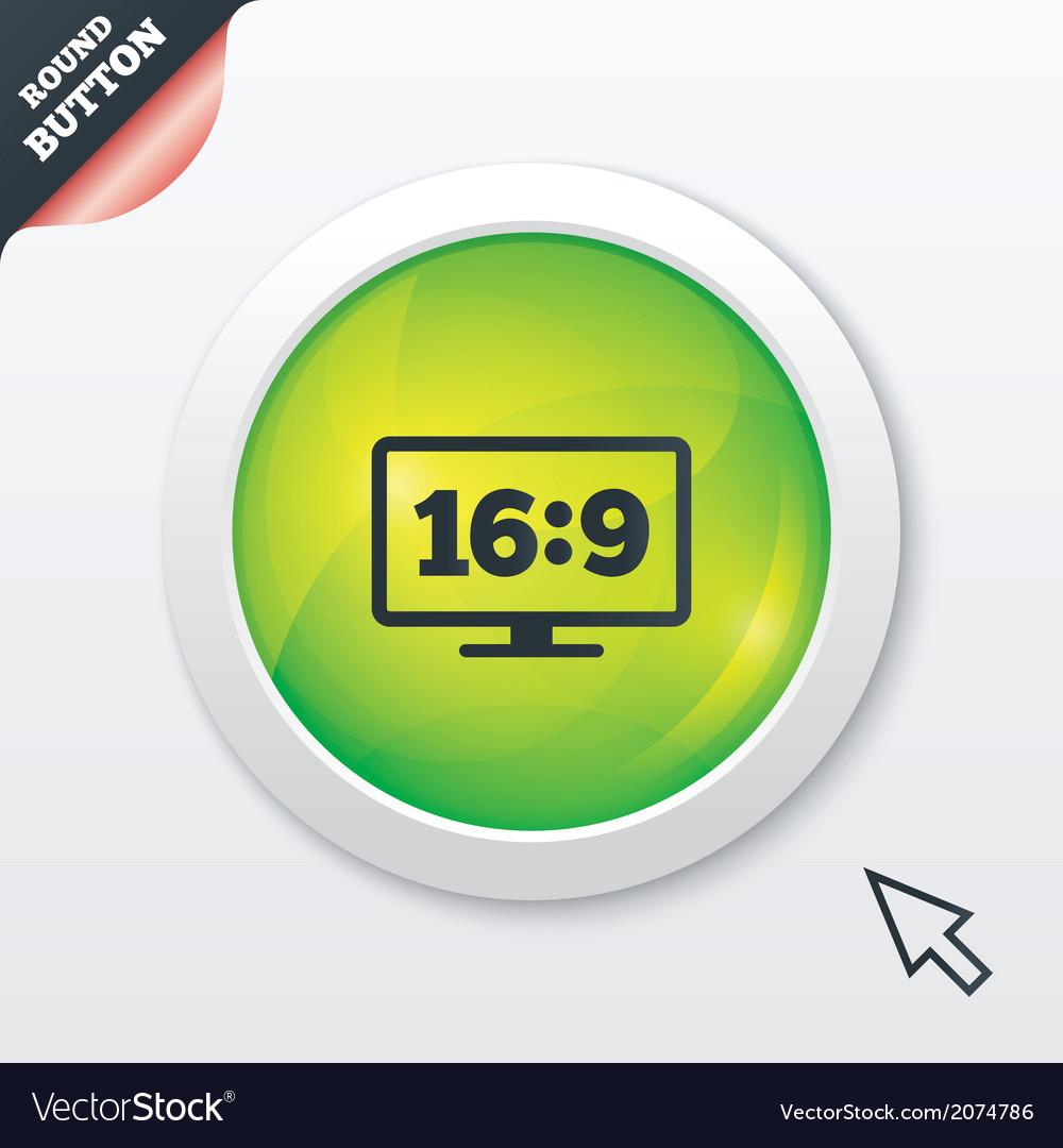 Aspect ratio 169 widescreen tv monitor symbol vector   Price: 1 Credit (USD $1)