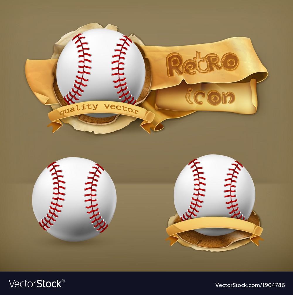Baseball icon vector | Price: 1 Credit (USD $1)