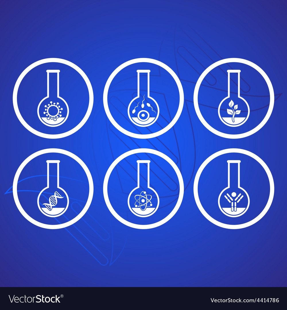 Biology icons vector | Price: 1 Credit (USD $1)