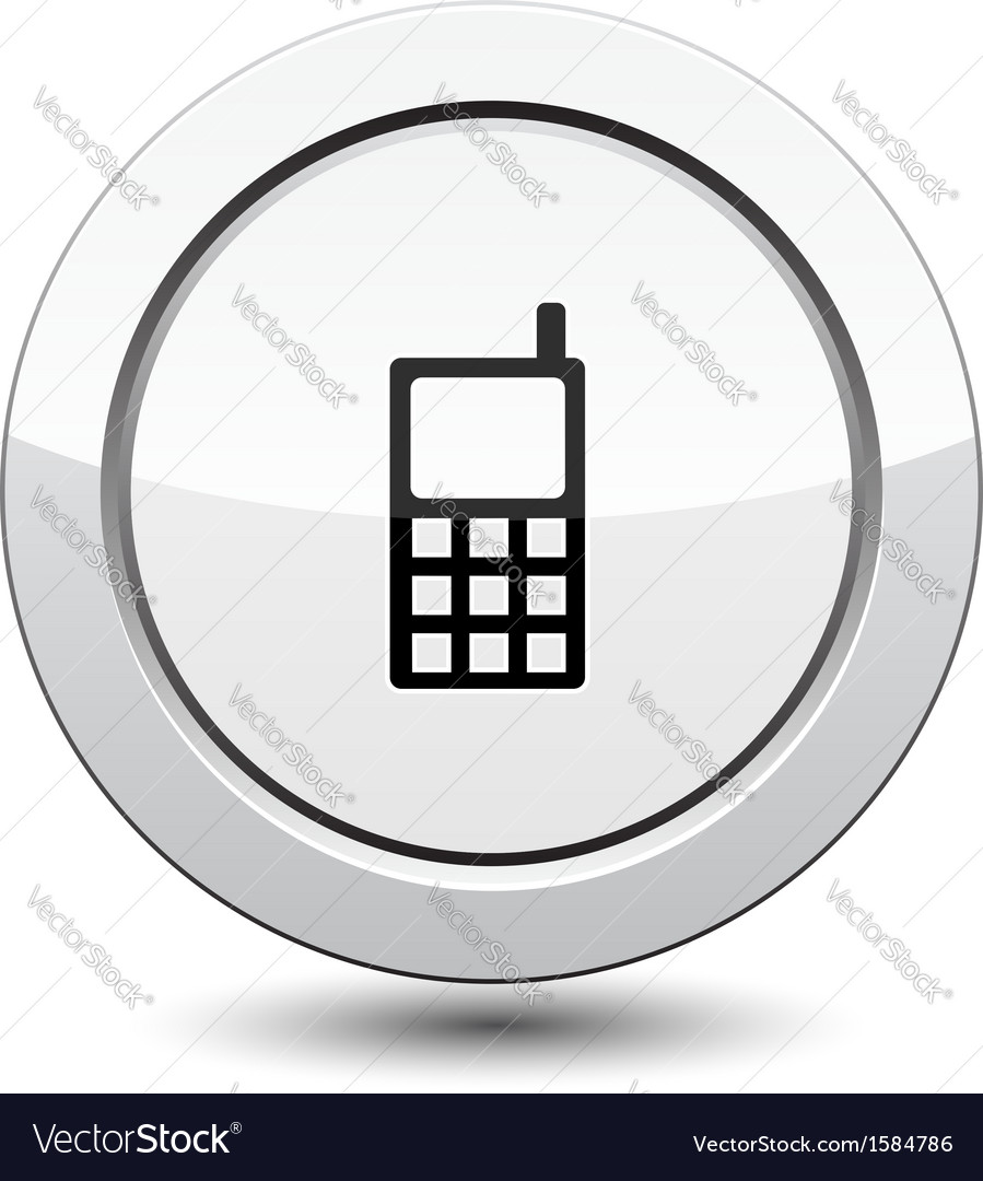Button with phone icon vector | Price: 1 Credit (USD $1)